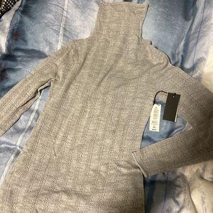 Babaton grey turtle neck wool sweater